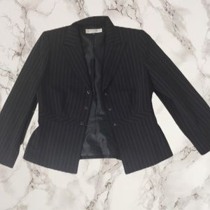 3 fo $25 Tahari stripe blazer jacket top s…